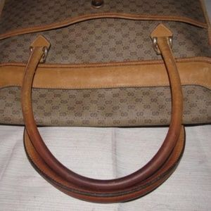 Gucci Bags - Vintage Tan Small G Logo Coated Canvas & Leather